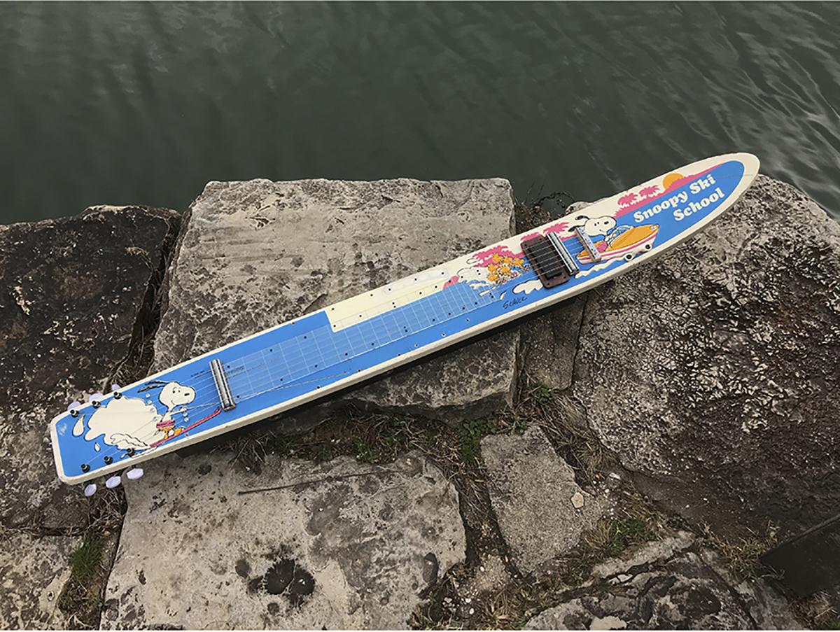 Snoopy and Woodstock water ski lap steel guitar