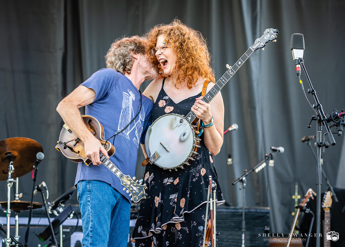 Becky Buller and Sam Bush | Photo by Shelly Swanger Photography