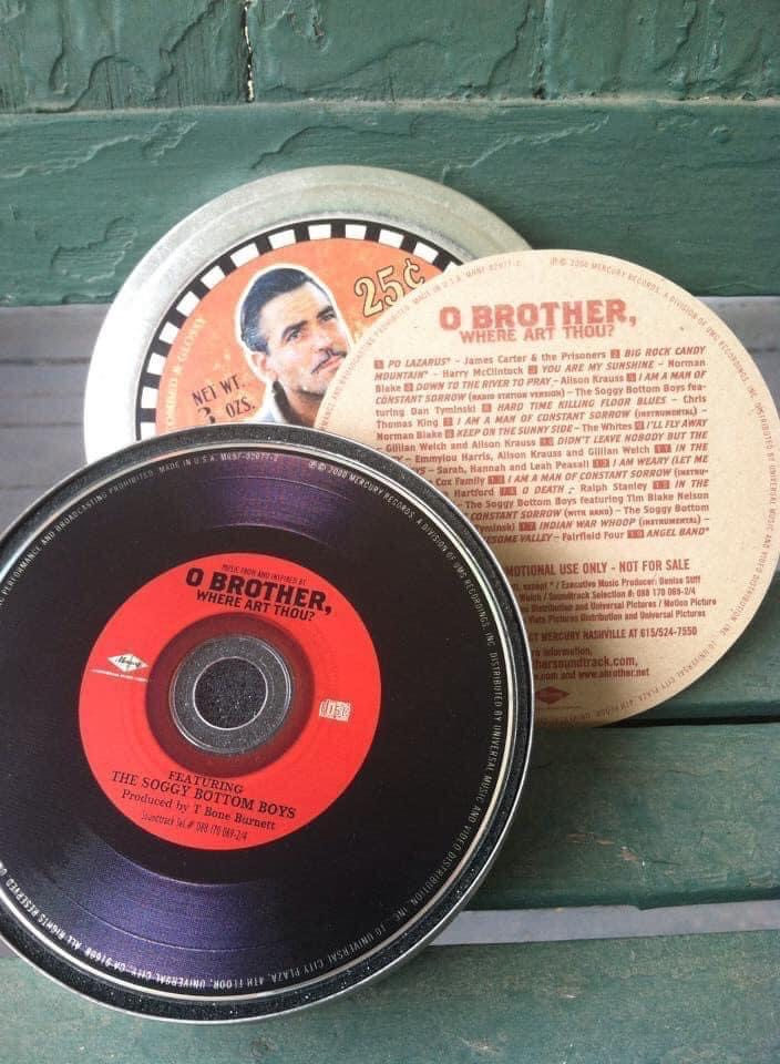 """Gifted """"O Brother, Where Art Thou?"""" soundtrack CD in Dapper Dan tin 