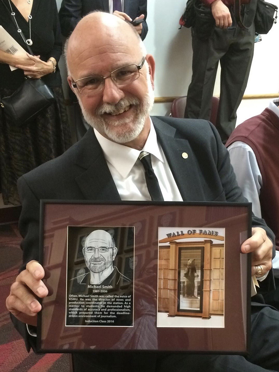 Mike Smith MSU Wall of Fame induction October 2016. | Photo by Jenny Fillmer Edwards