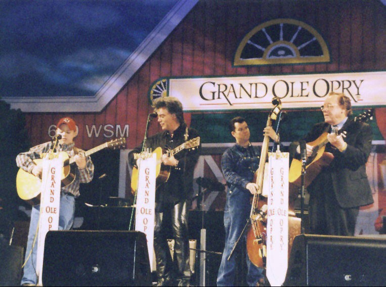Trey Hensley with Marty Stuart at the Grand Ole Opry