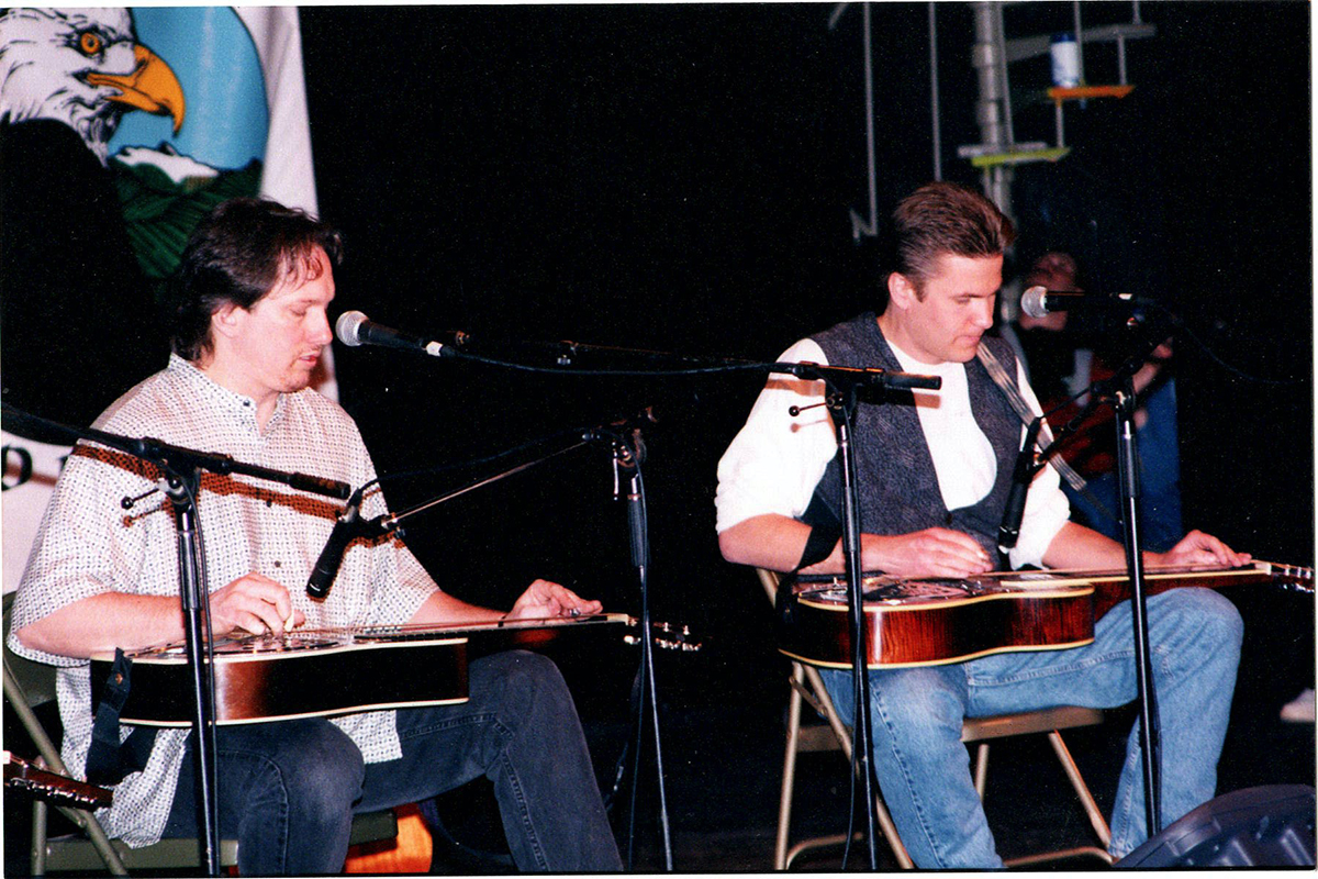 Jerry Douglas and Rob Ickes at Merlefest, 1997