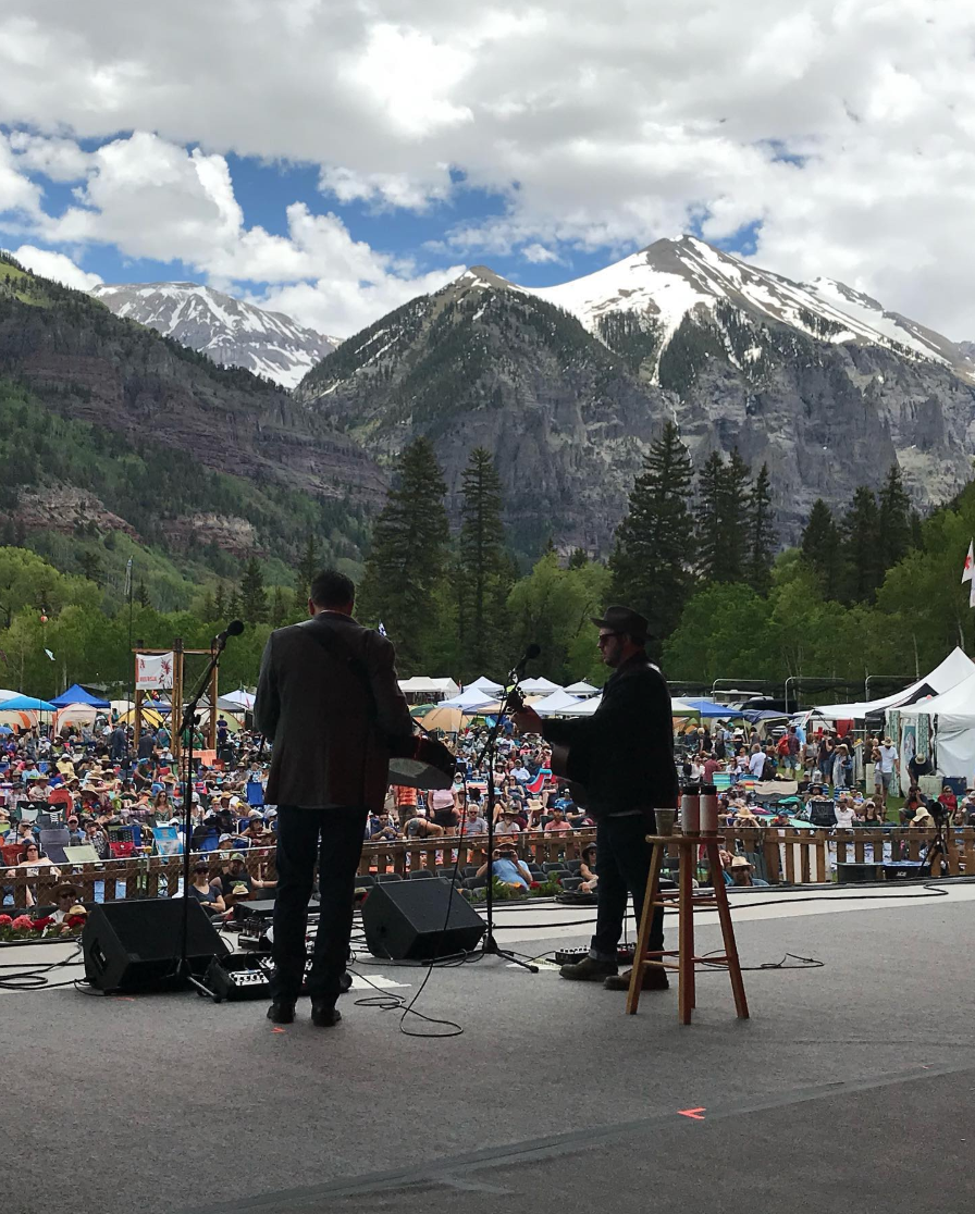 Rob Ickes and Trey Hensley at Telluride Bluegrass Festival