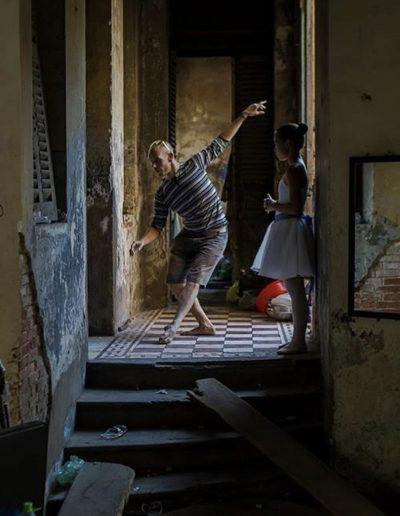 Stephen Bimson and ballet student in Cambodia | Photo by Steven Spencer