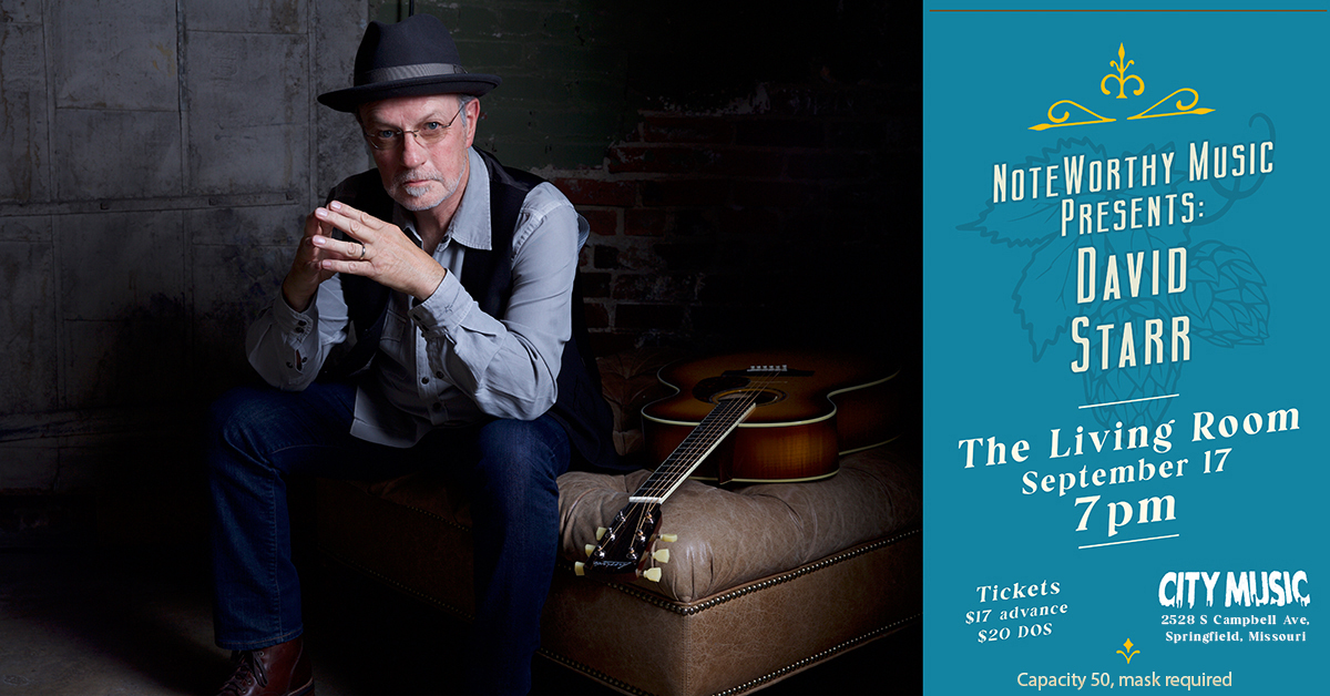 NoteWorthy Music presents David Starr @ The Living Room @ City Music Sept 17 7 pm