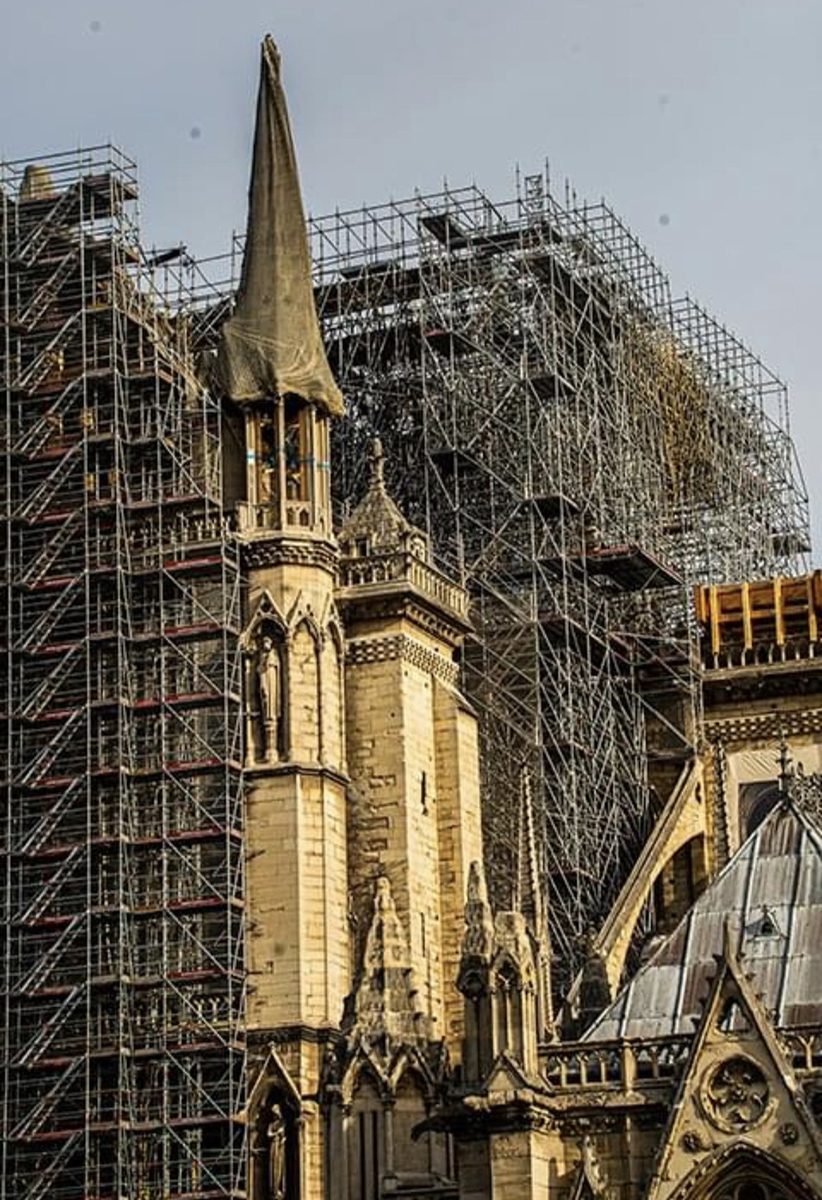 Reconstruction on Notre Dame Cathedral | Photo by Steven Spencer