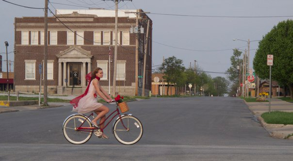 Spring Angel on a Bicycle, Springfield, Missouri | Photo by Steven Spencer