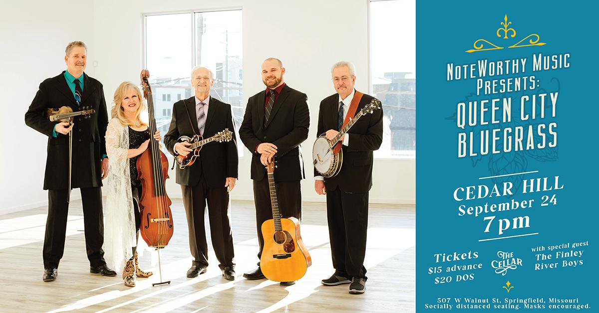 NoteWorthy Music Presents: Queen City Bluegrass | Cedar Hill @ The Celler Sept. 24
